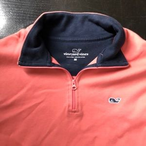 Vineyard Vines Shirts - Men Vineyard Vines Nantucket red half zip pullover
